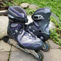 Salomon Womens Inline Skates Rollerblades Size 10.5 CLEAN Wheels Boots DR85