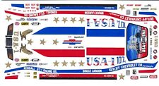 Bruce Larson USA-1 Corvette 1/24th - 1/25th Scale Waterslide Decals