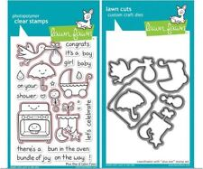 Lawn Fawn Photopolymer Clear Stamp & Die Combo Set ~  PLUS ONE  Baby  ~ 337,591
