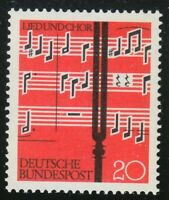 Germany 1962 MNH Mi 380 Sc 849 Choral singing. Notes,tuning fork **