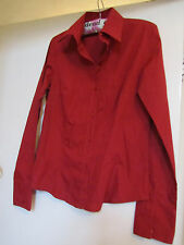 Red Zara Semi-fitted Shirt in Size L / Size 10 - 12