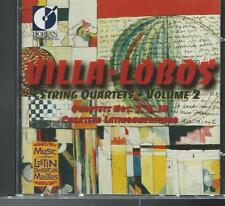 VILLA-LOBOS STRING QUARTET Vol 2 (CD, 1996 Dorian) - Very Good