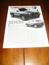 ISUZU VehiCROSS SPORT / UTE   ***ORIGINAL 1997 ARTICLE***