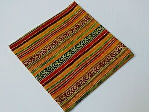 Handmade Mens Print Striped Bow Tie Handkerchief Pre-tied Gold Detail Colorful