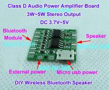 DC 3.7V-5V Micro Class D Stereo Amplifier Board 3W-5W Amp DIY Bluetooth Speaker