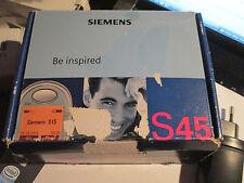 Siemens S 45  OVP grau silber Simfrei Heft Lader  gebraucht Nr. 39