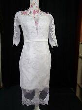 (71)Edles Damen Braut Standesamt Abend Kleid GR: 38