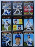 2020 Topps Heritage Kansas City Royals Base Team Set 9 Baseball Cards