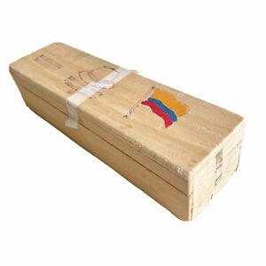 Vintage 90s Ecuador Balsam Wood Box for Montecristi Panama Hat, light as feather