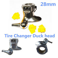 New 28mm Motorcycle Tire Changer Mount Demount Duck Head Protector Tools+3 Pads