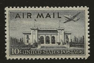 US Scott #C34, Single 1947 Air Mail 10c FVF MNH