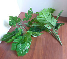 Artificial Grass Set of 2 Small Turtle Leaves Plants
