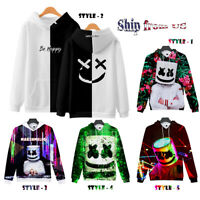 DJ-Marshmello Costume Pullover Jacket Hoodie Sweater Sweatshirt Marshmallow