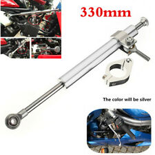 Universal 330mm Aluminum Motorcycle Steering Damper 6-Way Adjustable Stabilizer