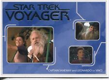 Star Trek Voyager H&V Relationships Chase Card R16 Captain Janeway and da Vinci