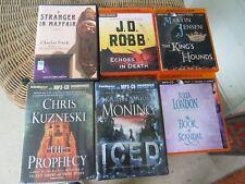 Lot of 6 Audiobooks on Mp3 Cd Unabridged Robb Jensen Kuzneski Finch London
