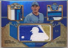 Mark Trumbo 1/1 2013 Triple Threads Game Used All Star Jersey LOGOMAN Relic Ange