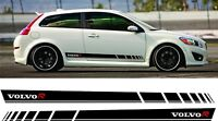 Volvo C30 R Design Side Stripes Graphics Decals Stickers any colour HEXIS Vinyl