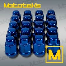 """Set of 20 Blue Bulge Acorn Lug Nuts 1/2"""" Thread Fits Ford Mustang GT 1984-2014"""