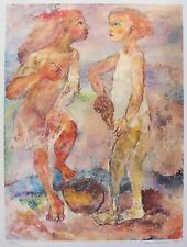 """SABINA TEICHMAN """"BEACH COMBERS"""" Hand Signed Limited Edition Fine Art Lithograph"""
