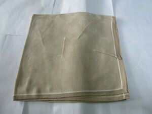 "USED BROWN HORSE CARRIAGE PATTERN COTTON 18"" POCKET SQUARE HANDKERCHIEF FOR MEN"