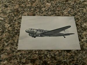 Derby Airways Douglas DC-3 inflight with destinations airline issued postcard