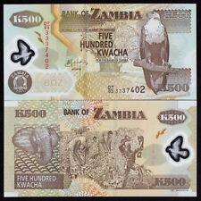 ZAMBIA 500 KWACHA 2011 UNC POLYMER NOTE WORLD PAPER MONEY (P-43H)