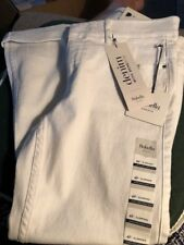 New Rafaela White Weekend Cuffed Capris With Comfort Waistband Size 4 Petite