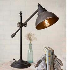 Adjustable Swing-Arm Task Lamp Rustic Metal