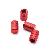 4Pcs Red Car Truck Bike Wheel Air Tyre Tire Valve Stems Dust Cover Screw Caps
