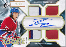 12-13 SPX Gabriel Dumont /30 Auto PATCH Rookie SPECTRUM Canadiens 2012
