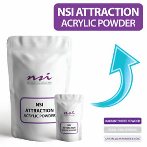 NSI Acrylic Powder Nail Set Kit VARIOUS SIZES of Crystal Clear, White, Pink,