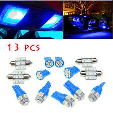 13Pcs Car Blue LED Lights Kit for Stock Interior & Dome & License Plate Lamps
