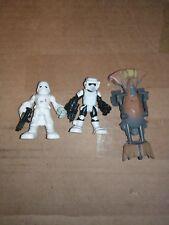 Star Wars Galactic Heroes Lot Scout Trooper Snow Trooper Speeder Bike 2014 2001