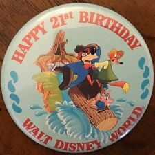 Splash Mountain Disney Wdw 21st Birthday Anniversary pin back button Cast Member