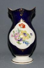 Lichte Porzellan, Echt Kobalt, Vase, Blumenmedaillon, 17,5 cm,