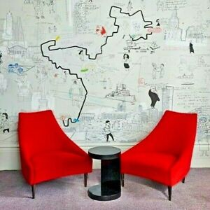 Designer Silencio by Sancal Retro Red Velvet Chair