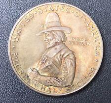 1920 US Mint Pilgrim Tercentenary Commemorative Half Dollar, Beautiful Toning