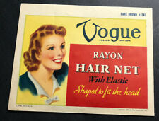 Vogue Hair Net With Contents Fashion Pretty  Girl 1943