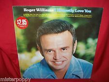 ROGER WILLIAMS I honestly love you LP 1975 AUSTRALIA MINT-
