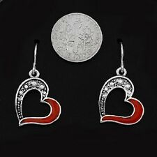 Earrings Heart Red Valentine Love Girlfriend Wife Anniversary Jewelry NWT #353-A