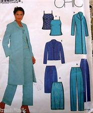 Women Petite Easy pattern wardrobe seperates cami straight skirt sz 4 6 8 10