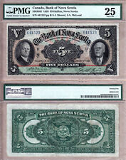 Bank of Nova Scotia $5 1929, Large Size Original PMG VF25; Rainbow Design
