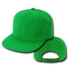 Kelly Green Vintage Flat Bill Snapback Snap Back Baseball Ball Cap Caps Hat Hats