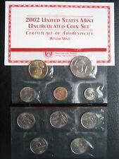 More details for usa 2002 d denver mint 10 unc coin set: 1 cent ~ 1 dollar ~ 2 sealed packs ~ coa