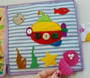 NEU! Quiet book für Kinder. Stilles Buch Spielbuch Lernbuch Stoffbuch. Hand made