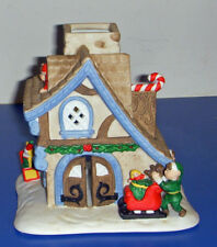 Partylite Tealight Santas Workshop P0269 Candle Christmas Village Elves Toys