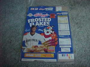 1993 Ken Griffey Jr Seattle Mariners Kellogg's Frosted Flakes Cereal Box