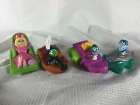 "Vintage Muppets 1995 Kermit The Frog Piggy Gonzo Lot 4"" McDonald's Bath Toy Boat"
