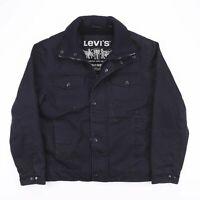 Vintage LEVI'S Black Heavy Cotton Zip Up Outdoor Jacket Mens Size Medium
